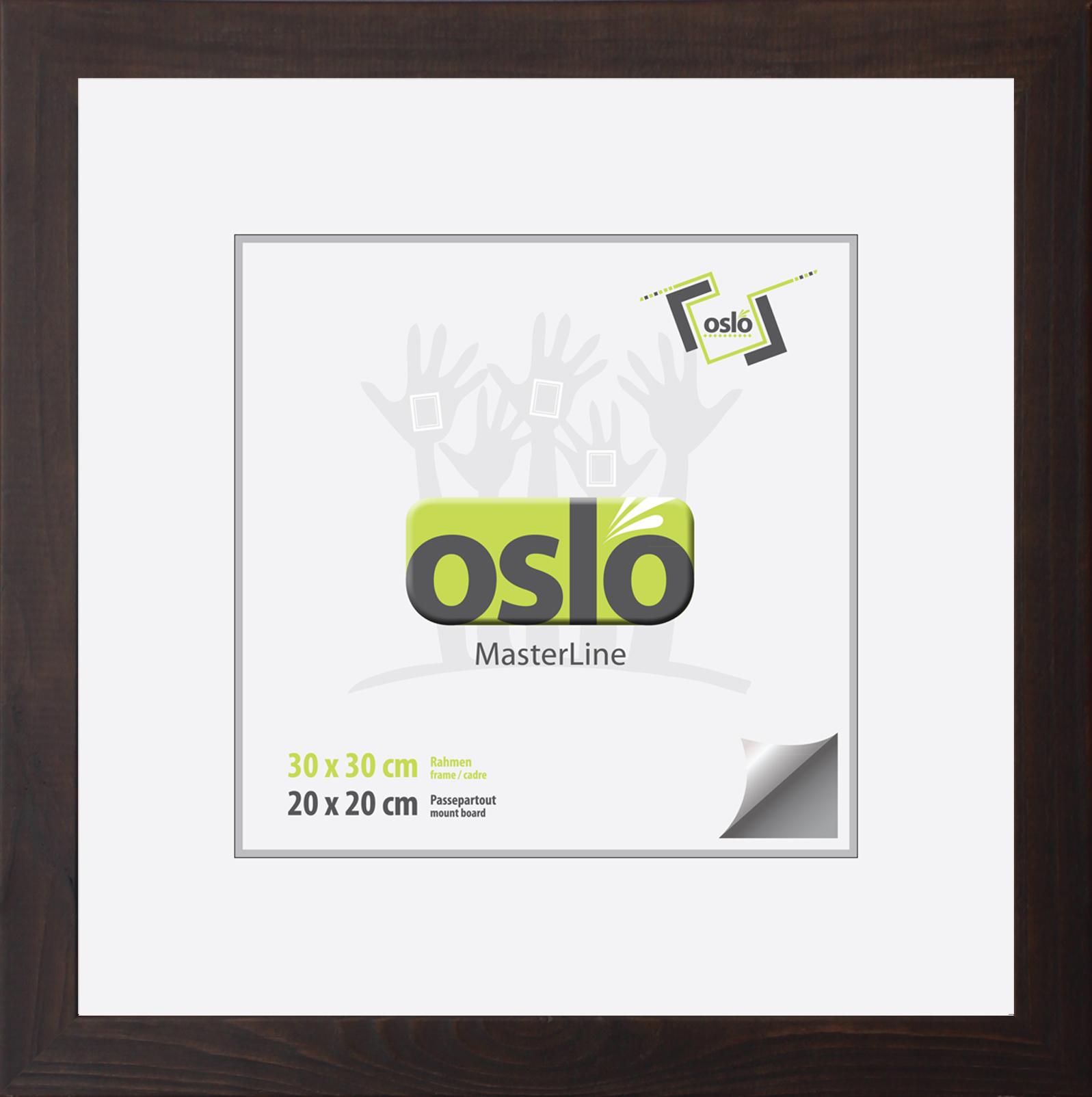 Bilderrahmen 30x30 braun Holz (100 % FSC-zertifiziert), quadratisch