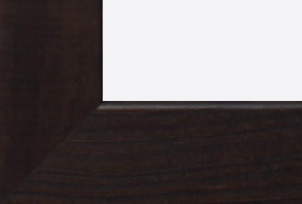 Eine braune Holzleiste