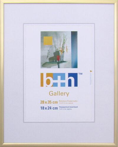 Ein gold matter Bilderrahmen 28x35 aus Alu