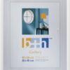 Bilderrahmen 40 x 50 Puzzle-rahmen weiss hochwertiger Kunststoff, Echt-Glas patentiertes Aufhängesystem Rahmen