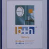 3 Stück Bilderrahmen 40 x 50 Puzzle-rahmen blau metallic hochwertiger Kunststoff, Echt-Glas patentiertes Aufhängesystem Rahmen